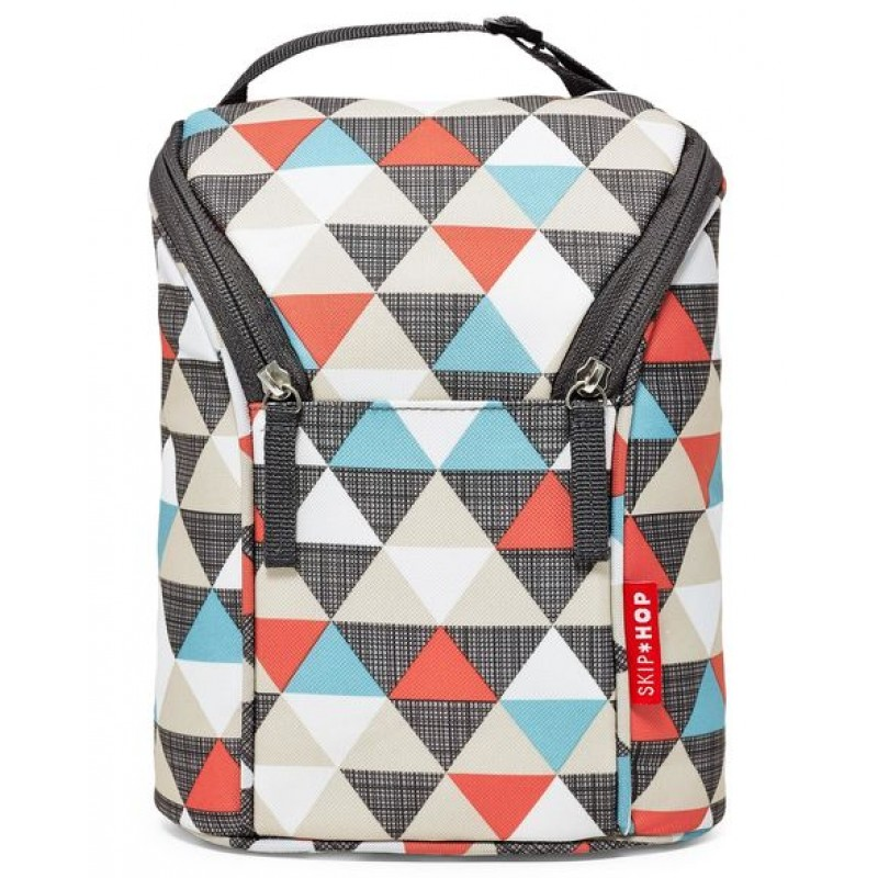 Skip Hop - Grab & Go Porte Biberons Double - Triangles