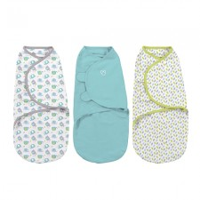 Summer Infant - SwaddleMe SM 3pk - Elley fun