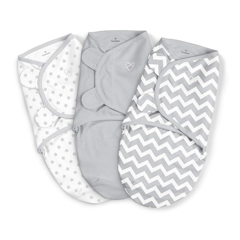Summer Infant - SwaddleMe Cotton Petit 3pc - 0 à 3 mois