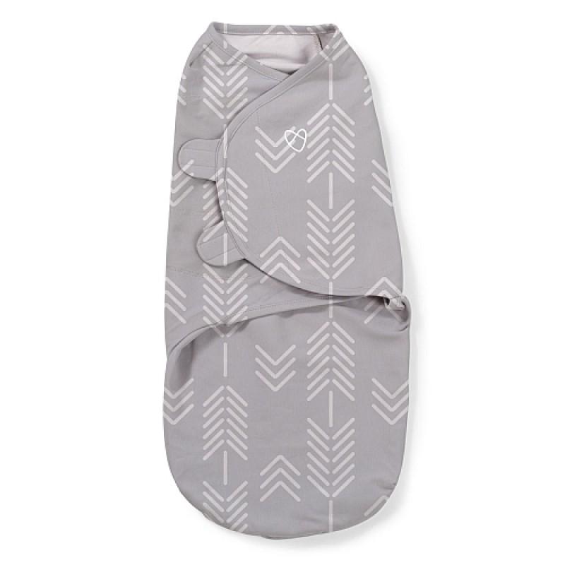 Summer Infant - SwaddleMe® Couverture-sac Originale - 1PK (SM) - Flèches Gris