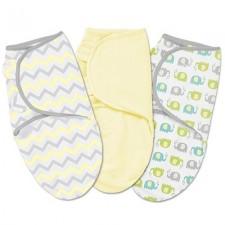 Summer Infant - SwaddleMe Cotton Petit 3pc - Chevron Splash Jaune