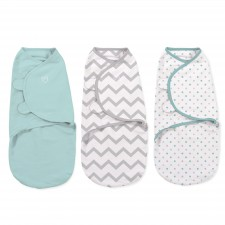 Summer Infant - SwaddleMe Cotton Petit 3pc - Zig Zag Party Dots 3L