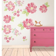 Wall Pops - Autocollant Mural Fleurs Roses