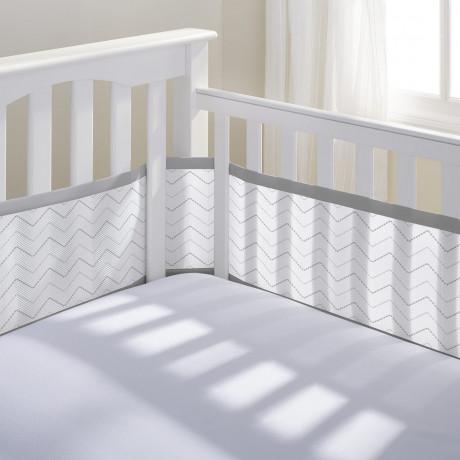breathable baby tour de lit respirant couleurs divers. Black Bedroom Furniture Sets. Home Design Ideas