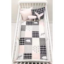 Carrément Bébé - Rose Chalet - 5 Pieces Bedding Set