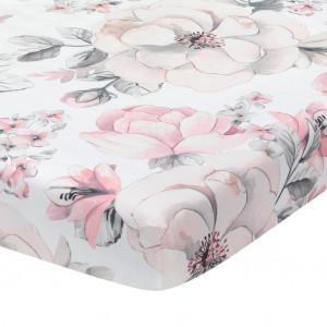 Lambs & Ivy - Botanical Crib Sheet - White Floral