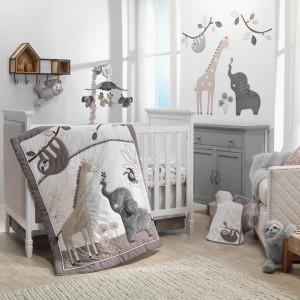 Lambs & Ivy - Baby Jungle Animals 4-Piece Crib Bedding Set
