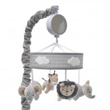 Lambs & Ivy - Musical Baby Crib Mobile - Baby Animal Jungle