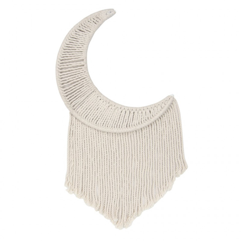 Lambs & Ivy - Macrame Moon Beige Wall Decor