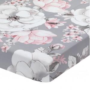 Lambs & Ivy - Botanical Crib Sheet - Grey Floral