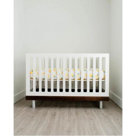 Little Unicorn - Cotton Percale Crib Sheet - Lemon