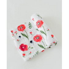 Little Unicorn - Cotton Muslin Swaddle - Summer Poppy