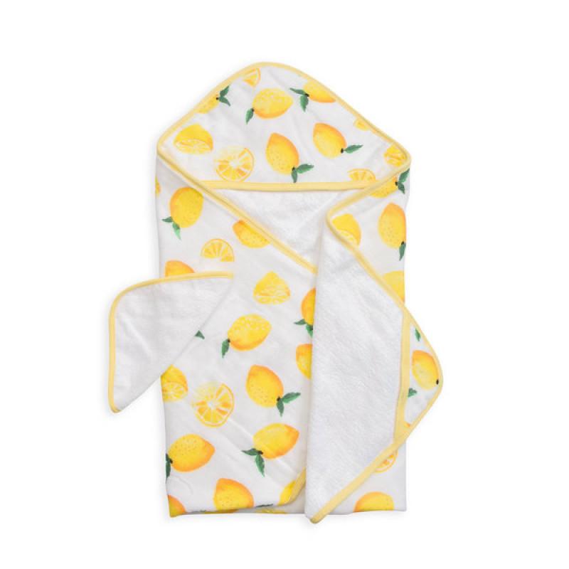 Little Unicorn - Hooded Towel and Washcloth Set - Lemon