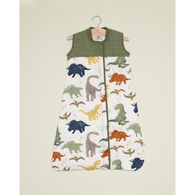 Little Unicorn - Cotton Muslin Quilted Sleep Bag - Dino Friends
