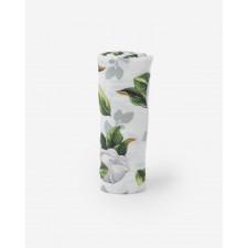 Little Unicorn - Cotton Muslin Swaddle - Magnolia Blossoms