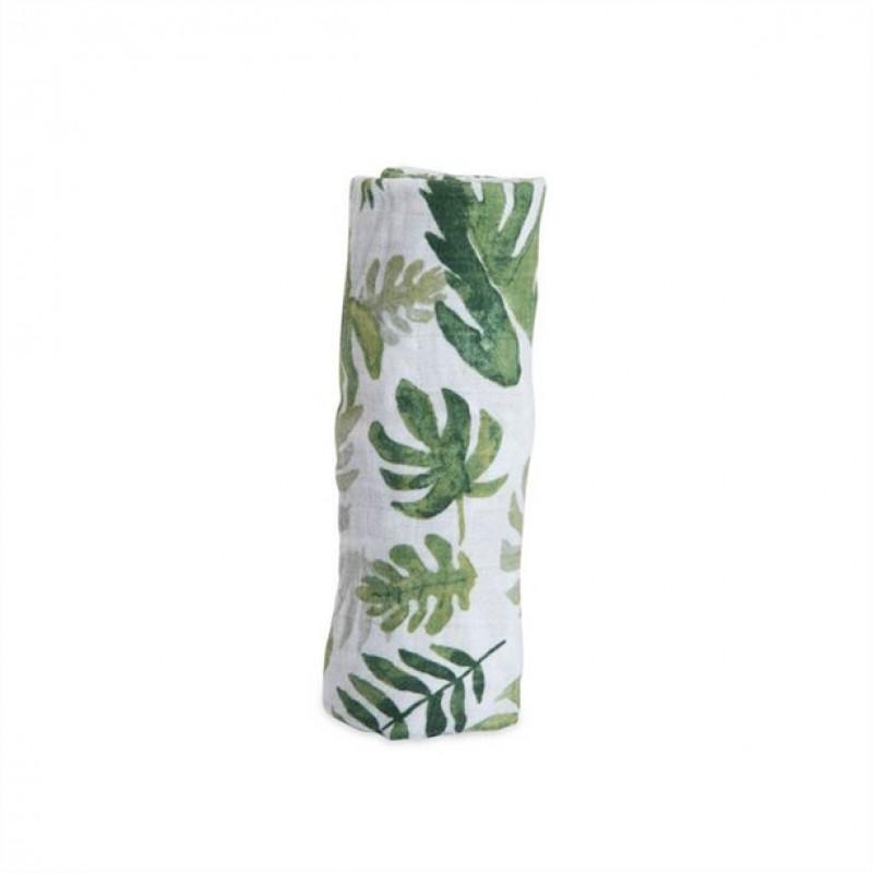 Little Unicorn - Cotton Muslin Swaddle Single - Tropical Leaf