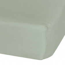 Perlimpinpin - Cotton Muslin Fitted Crib Sheet - Kaki