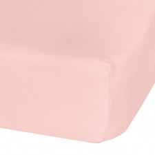 Perlimpinpin - Cotton Muslin Fitted Crib Sheet - Pink