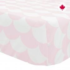 Perlimpinpin - Draps Contour pour lit de bébé - Rose et Blanc