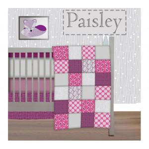 Pitchounette - 5 Piece Bedding Set-  Paisley