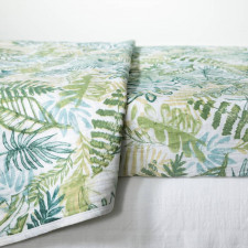 South Shore - 3-Piece Muslin Baby Bedding Set Tropical Leaves