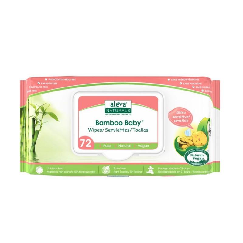 Aleva Naturals - Bamboo Baby Wipes Sensitive 72pk