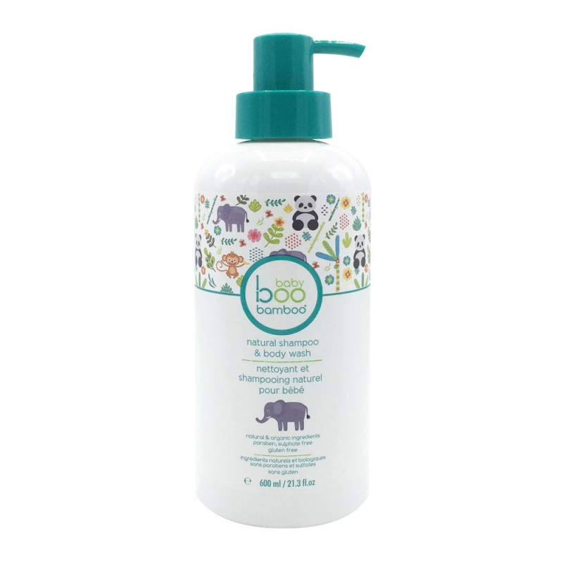Baby Boo Bamboo - All Natural Baby Body Wash and Shampoo - 600ml