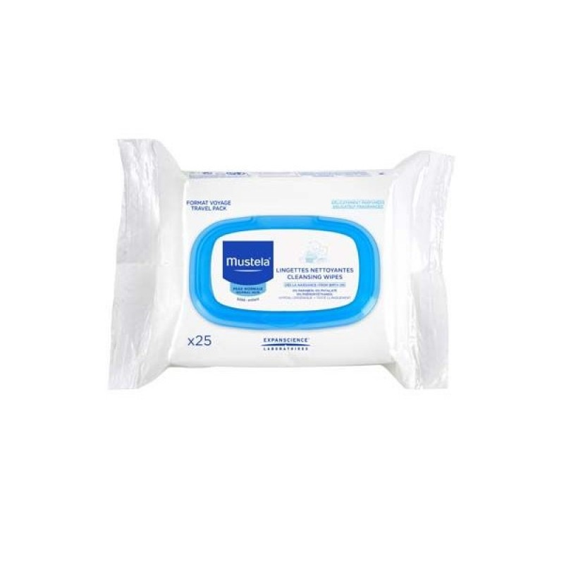 Mustela - Cleansing Wipes- 25pc