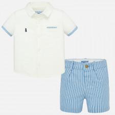 Mayoral - Baby Boy Striped Bermuda Shorts Set