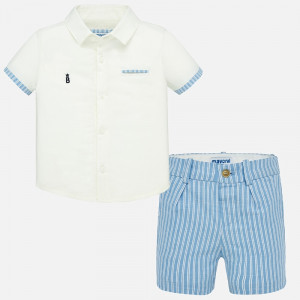 Mayoral - Baby Boy Striped Bermuda Shorts Set