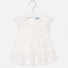 Mayoral - Baby Embroidered Tulle Dress
