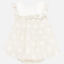 Mayoral - Newborn Linen Dress Set