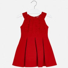 Mayoral - Red Frill Dress