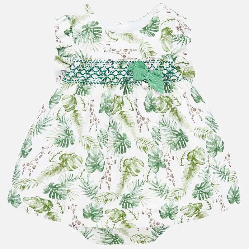 Mayoral - Newborn Safari Dress Set