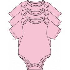 Necessities - 3 Pack Bodysuits - Pink