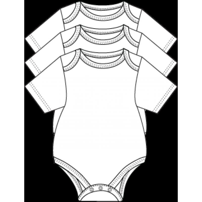 Necessities - 3 Pack Bodysuits - White