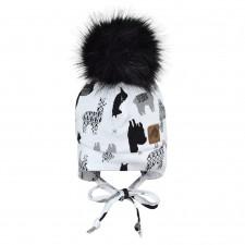 Perlimpinpin - Pompom Hat w/ Ears - Lamas