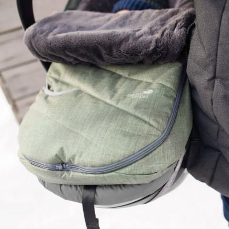 Perlimpinpin - Couvre-Siège d'hiver - Gris