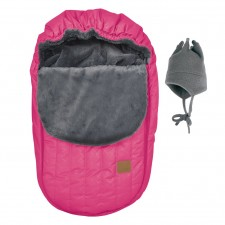 Perlimpinpin - Car Seat Cover + Hat - Pink