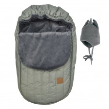 Perlimpinpin - Car Seat Cover + Hat - Kaki