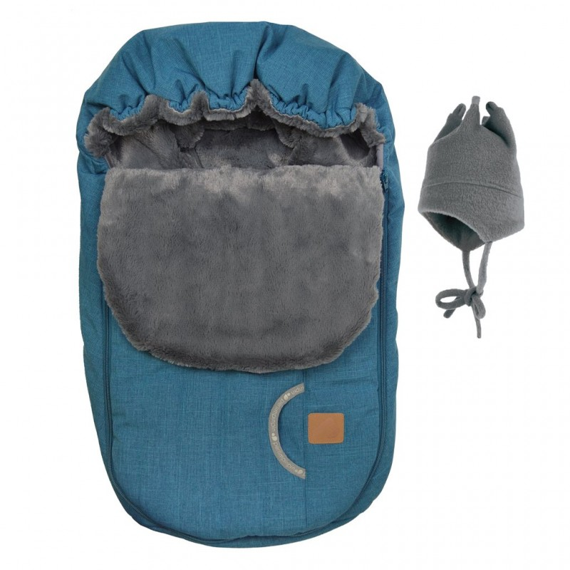 Perlimpinpin - Car Seat Cover + Hat - Blue Orage