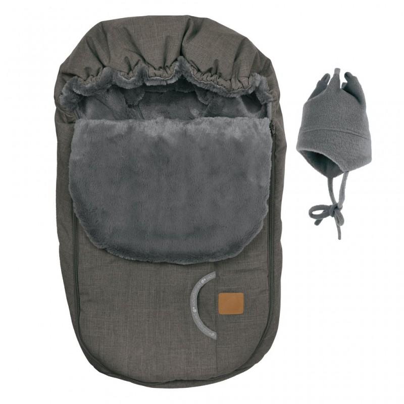 Perlimpinpin - Car Seat Cover + Hat - Coal