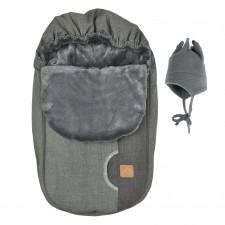 Perlimpinpin - Car Seat Cover + Hat - Kaki/Coal