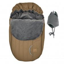 Perlimpinpin - Car Seat Cover + Hat - Camel
