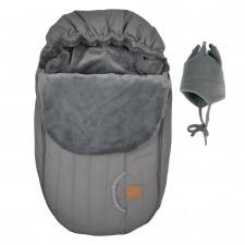 Perlimpinpin - Car Seat Cover + Hat - Grey