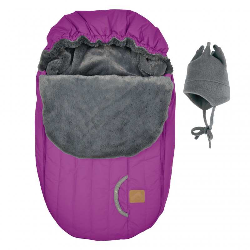 Perlimpinpin - Car Seat Cover + Hat - Light Berry