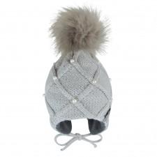 Perlimpinpin - Pompom Knit Hat w/ Ears