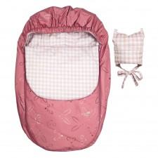 Perlimpinpin - Car Seat Cover Mid-Season - Pink Animals