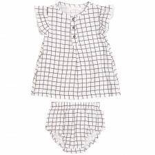 Petit Lem - Organic Cotton Dress Set - Window Pane
