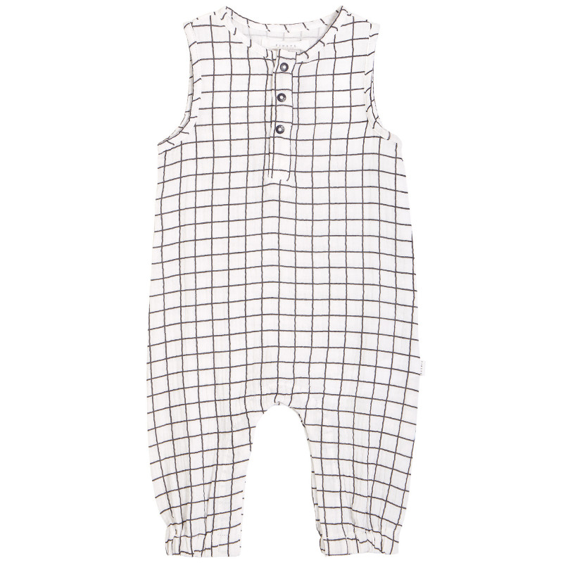 Petit Lem - Organic Cotton Playsuit - Window Pane